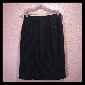 {Vintage}Pinup b/w pinstripe pencil skirt w/pocket